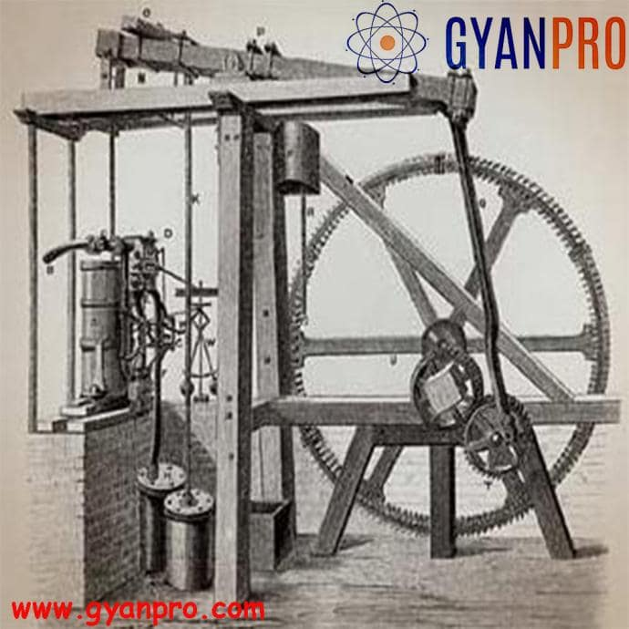 black and white image of steam engine
