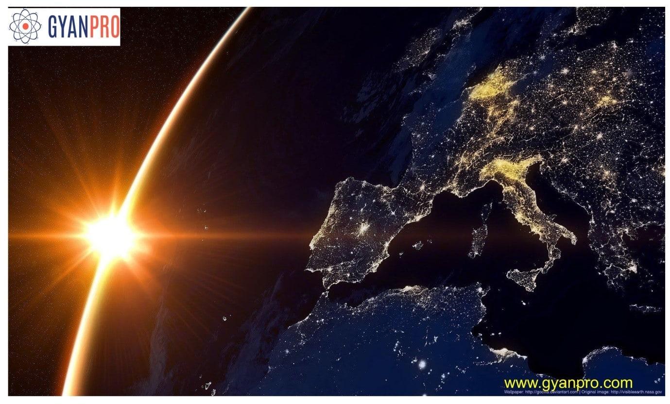 Image of earth taken from satelitte