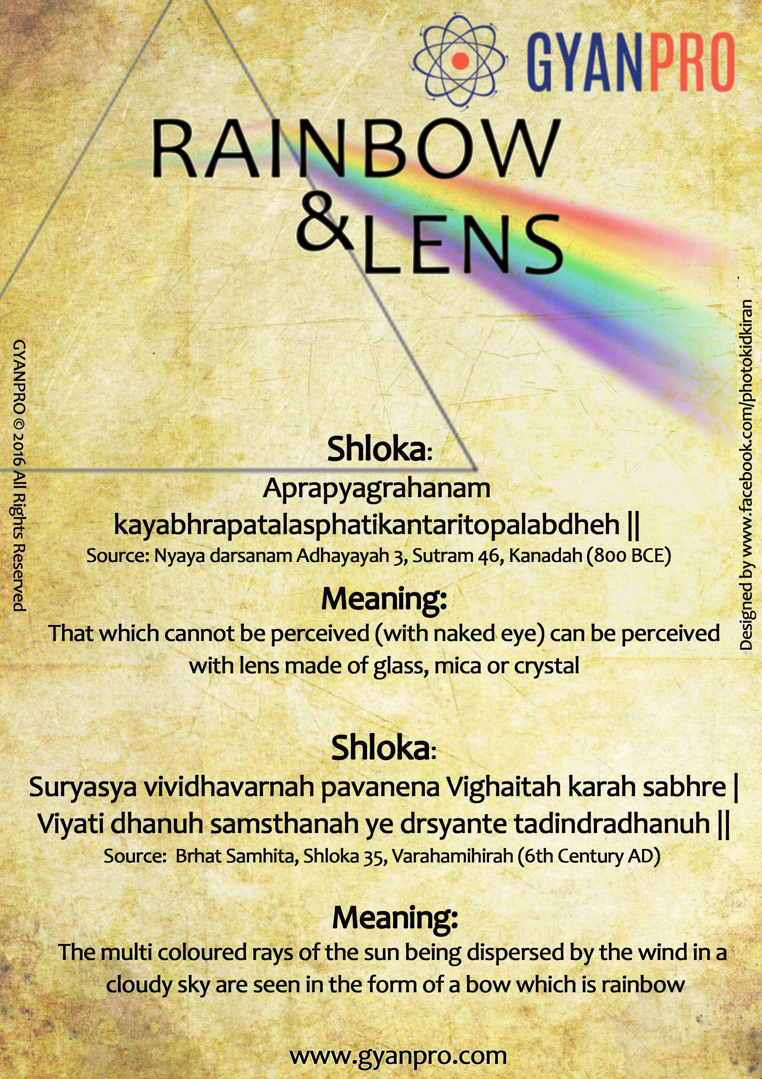 rainbow and lens