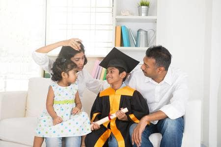 45881487-happy-indian-family-graduation-education-concept-photo