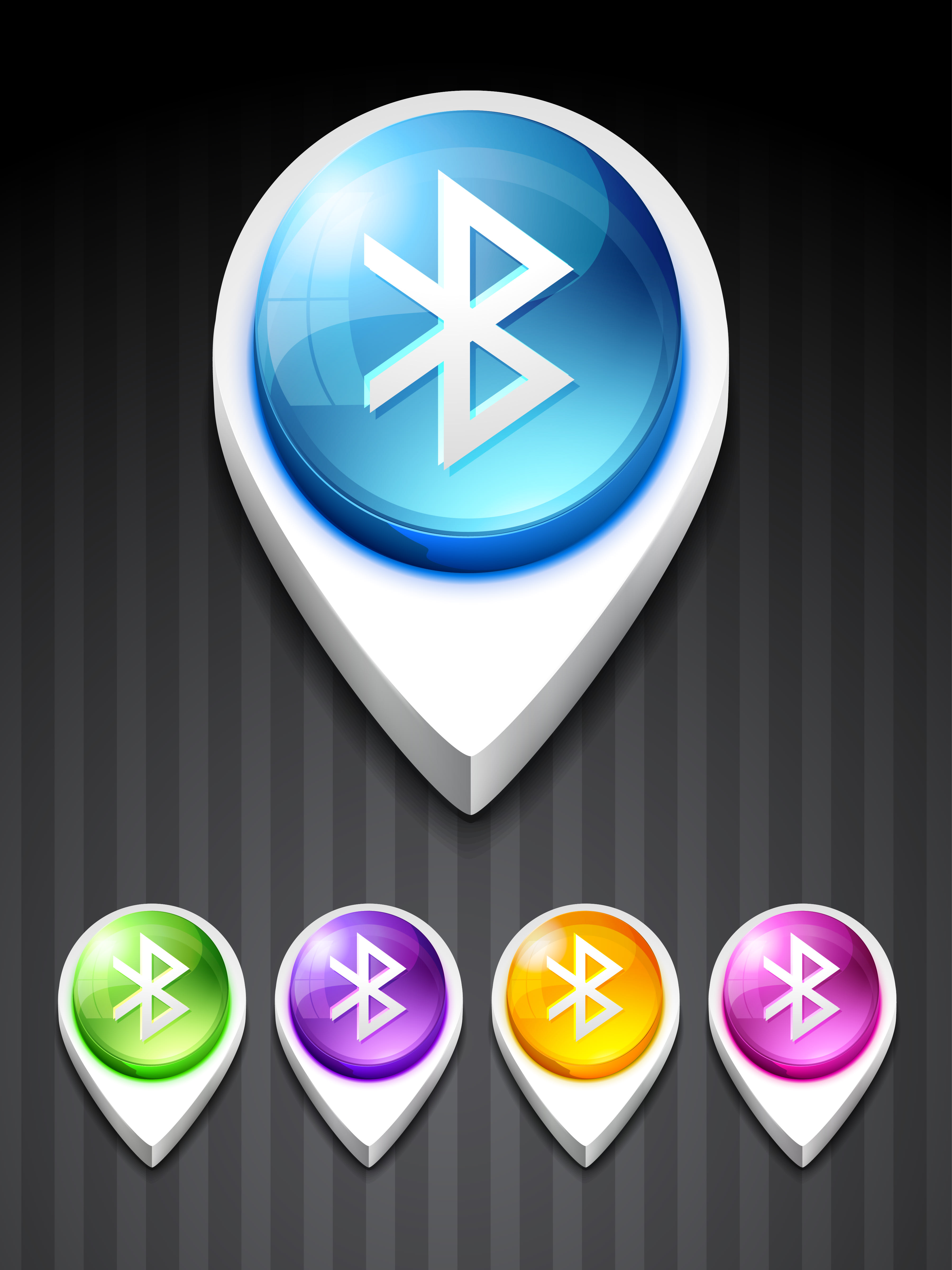vector bluetooth 3d style icon
