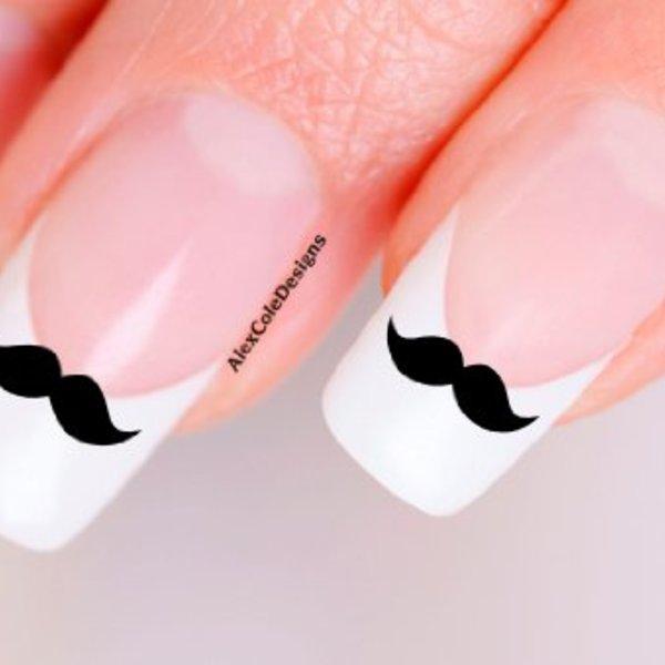 Moustache Fingernail Stickers   facetache.com