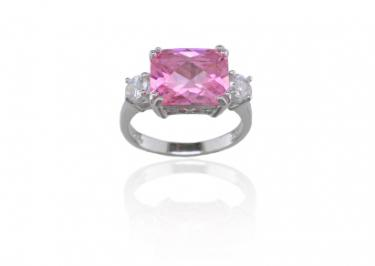 Rose gold pink diamond engagement rings
