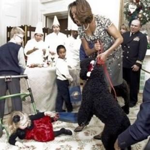 Obama's Dog Attacks Little White Girl