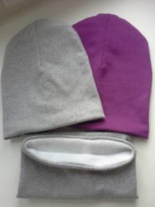 Детская шапка из трикотажа с подкладкой