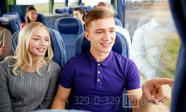 Как расположены места в автобусе дальнего следования