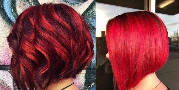 красные волосы боб
