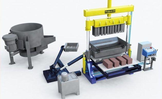 Станки для изготовления керамзитобетонных блоков