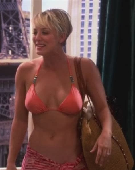 Kaley cuoco thong