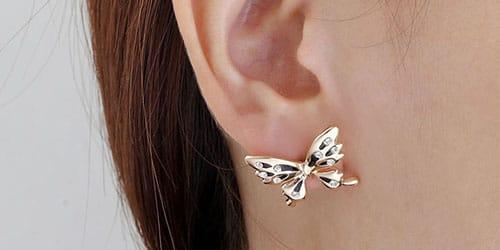 серьга бабочка