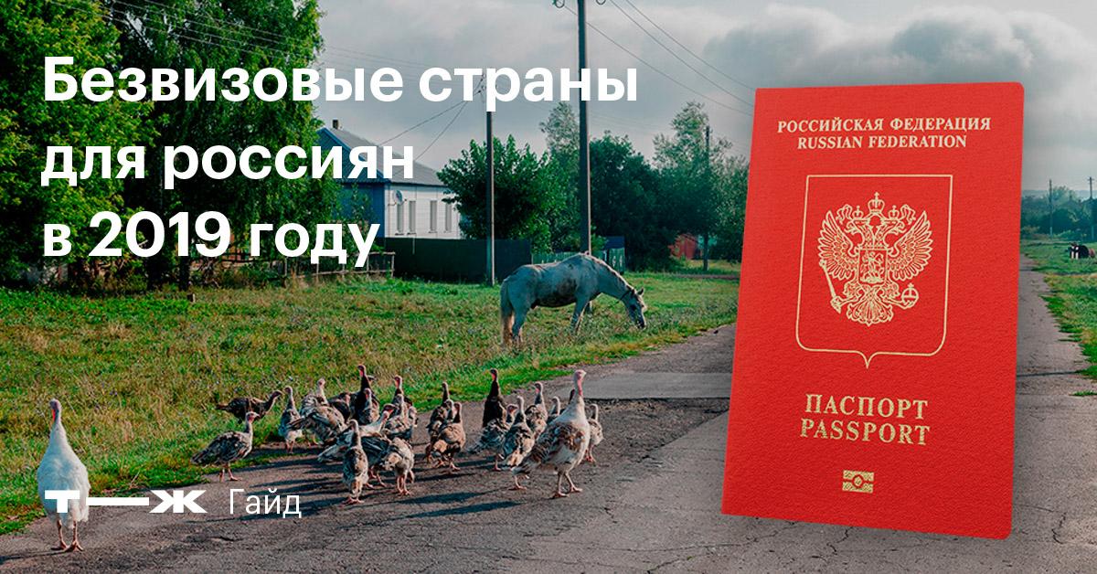 Куда россиянин может поехать без визы