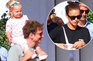 Семейный шопинг: Ирина Шейк и Брэдли Купер гуляют по Лос-Анджелесу с дочкой