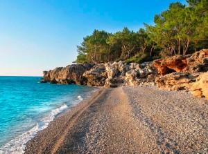 Где галечные пляжи в турции