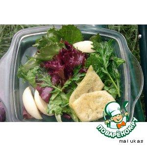 Рецепт: Четыре салата с сырными чипсами