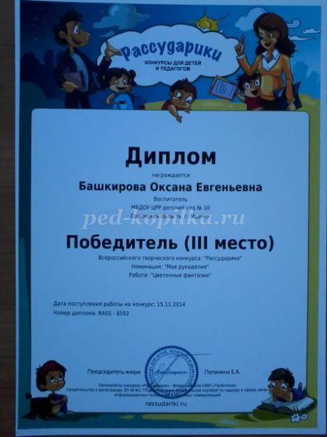 Профессиональные достижения воспитателя детского сада
