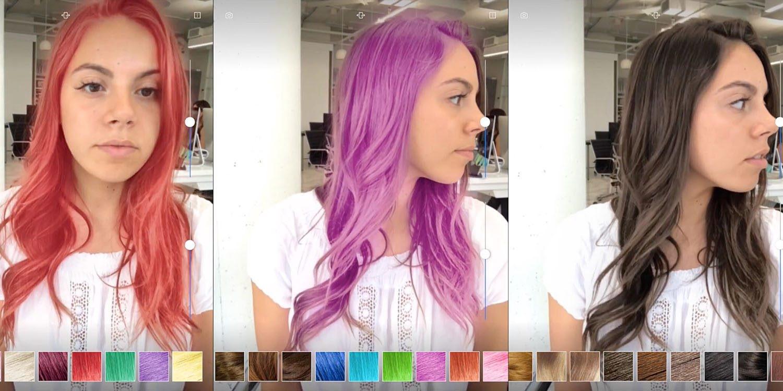 Поменять цвет волос и прическу