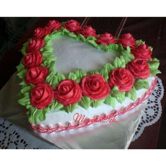 Торт маме на день рождения кремовый фото