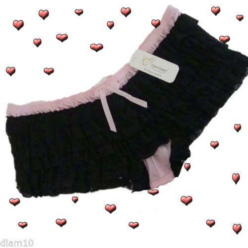 Pink frilly baby knickers