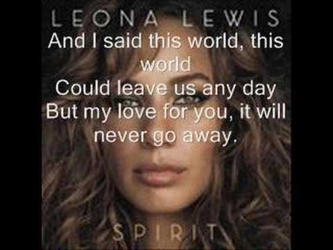 Lyrics angel leona lewis