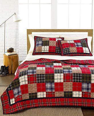 Martha stewart collection bedding plaid patchwork