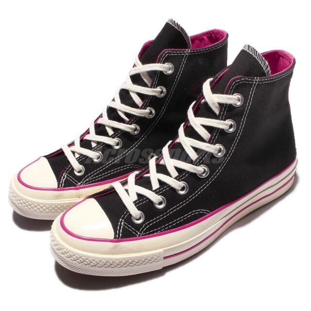 Black converse pink
