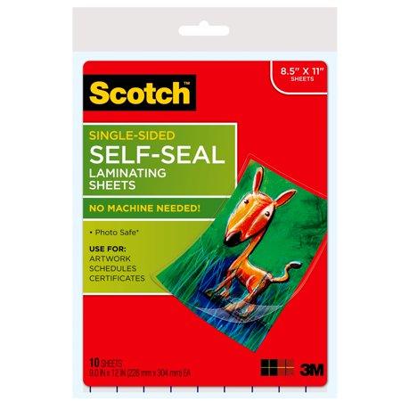 Self sealing laminating sheets