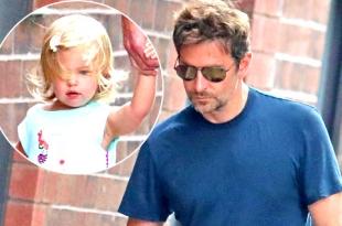 Папа может: Брэдли Купер один гуляет с дочкой по Нью-Йорку