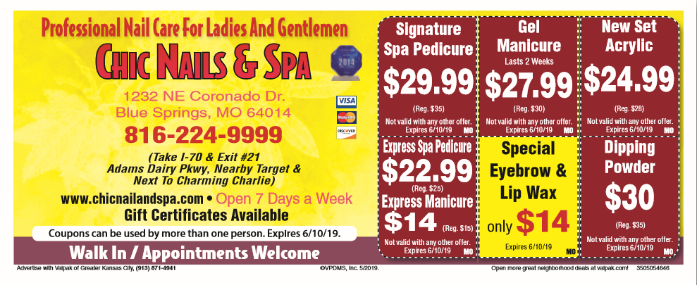 Chic nails and spa central sc