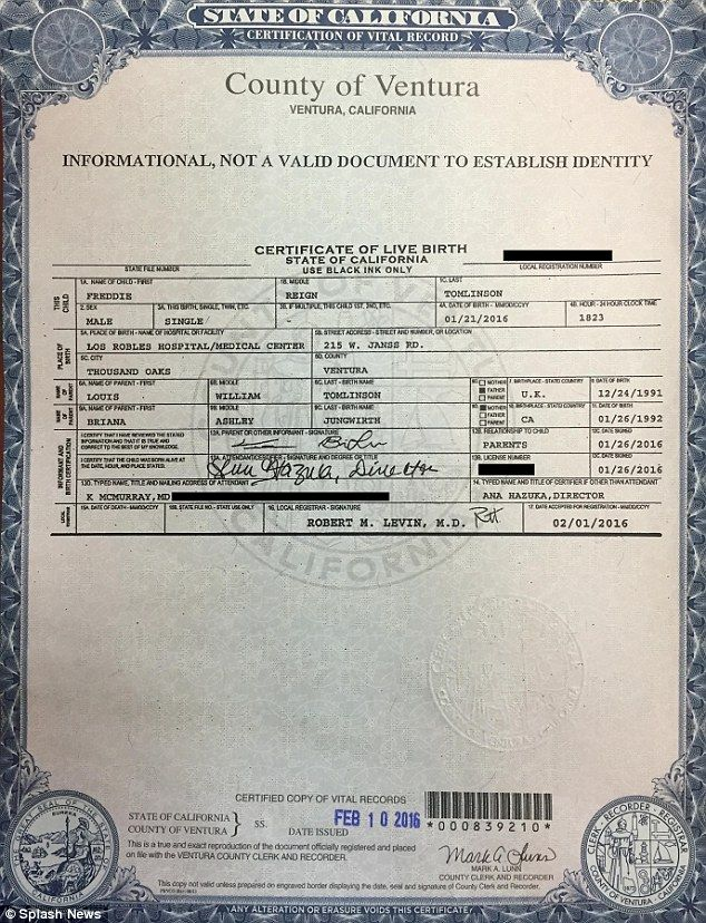 Harry styles birth certificate picture