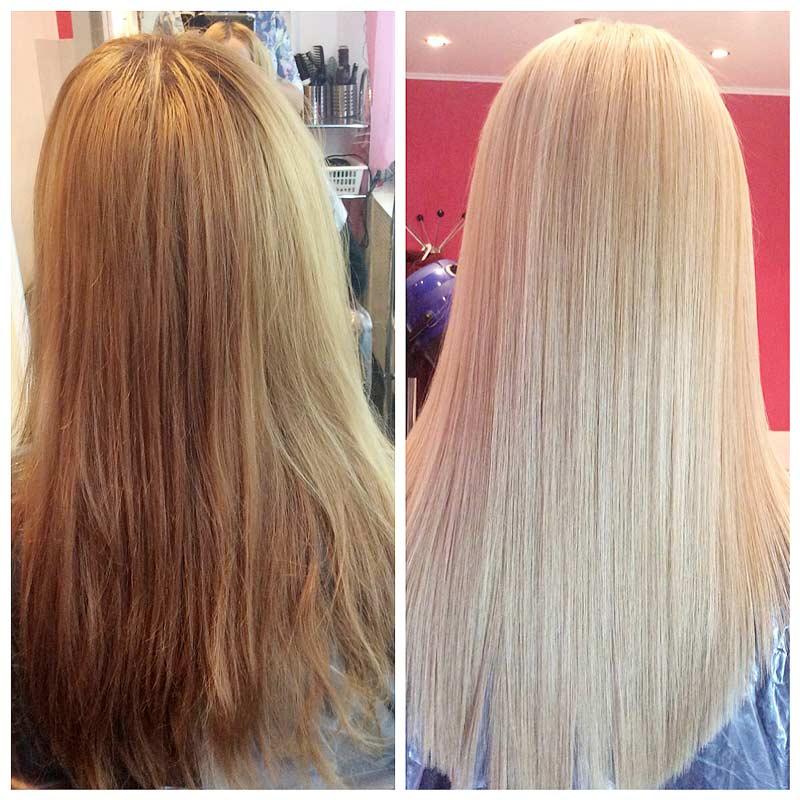 Кератиновое выпрямление восстановление волос