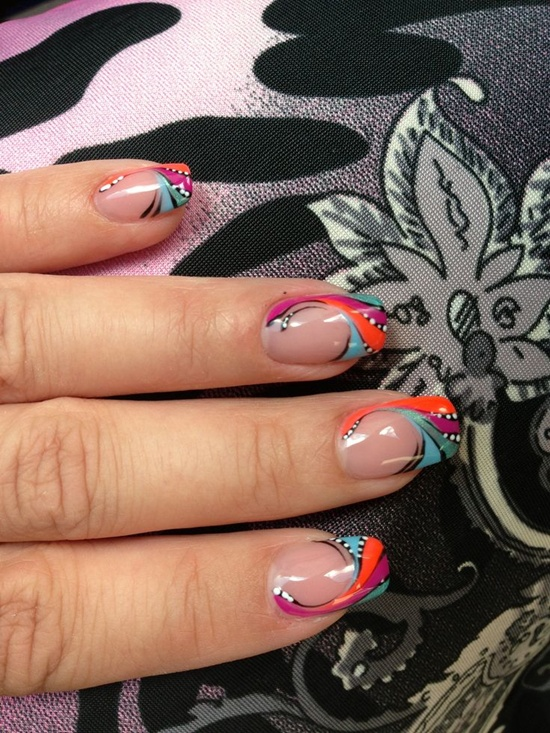 Abstract art nails