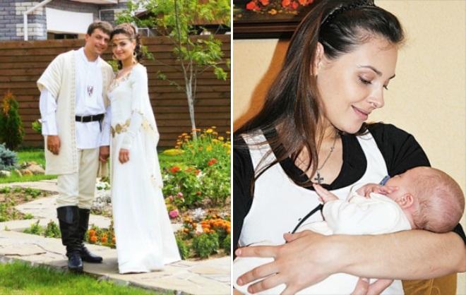 Ольга Фадеева с мужем и сыном