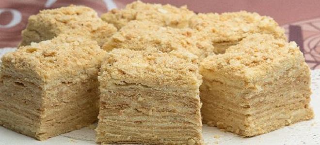 Как приготовить торт на сковороде наполеон
