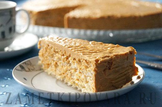Вафельный торт со вареной сгущенкой