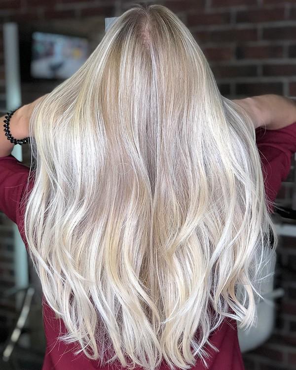 покраска шатуш на светлые волосы