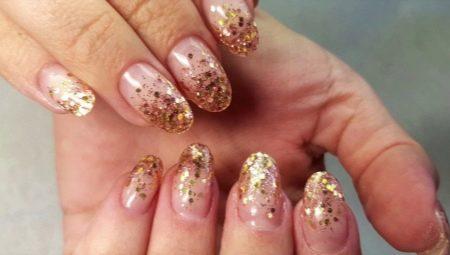 Как сделать растяжку блестками на ногтях?
