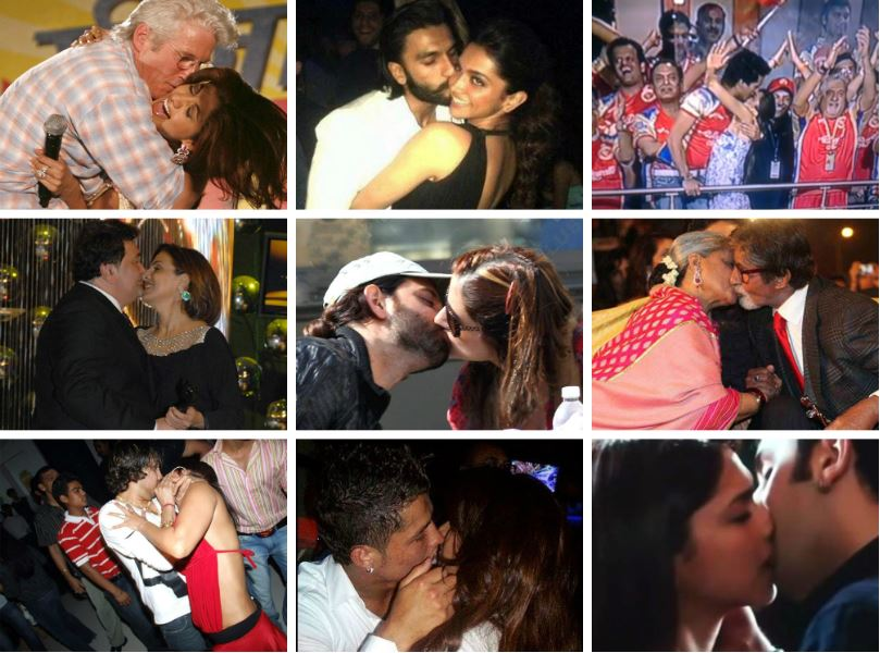 Bollywood celebrities kissing