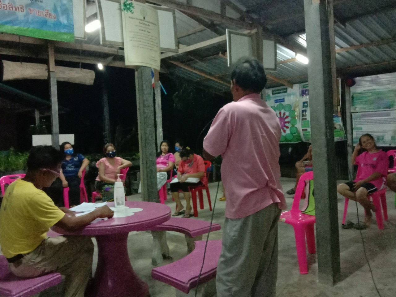 ประชุมวางแผนการป้องกัน เฝ้าระวัง โรคโควิด-19 ณ ที่ทำการผู้ใหญ่บ้าน บ้านป่าเพิ่ม หมู่ 11 เวลา 20.00 น. โดยคณะกรรมการหมู่บ้าน จิตอาสา และทีมงาน อสม. ประจำหมู่บ้าน