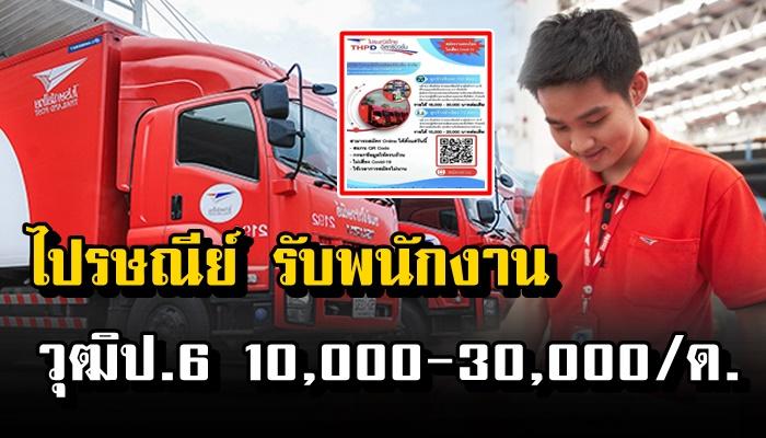 ไปรษณีย์ไทย เปิดรับสมัครงาน วุฒิ ป.6 รายได้ 10,000 – 30,000 ต่อเดือน