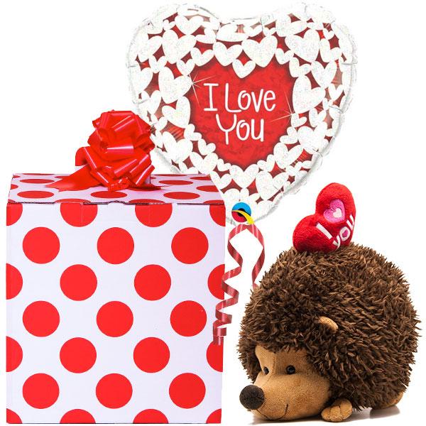 Hedgehog Love Balloon Gift