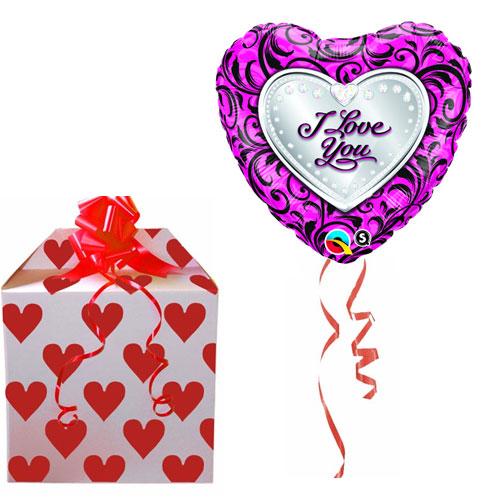 "I Love You Sparkle Filigree 32"" Balloon"