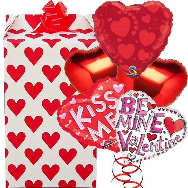 Kiss Me Valentine 5 Balloon Bouquet