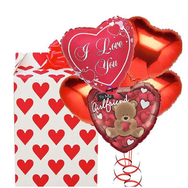My Girlfriend Love 5 Balloon Bouquet