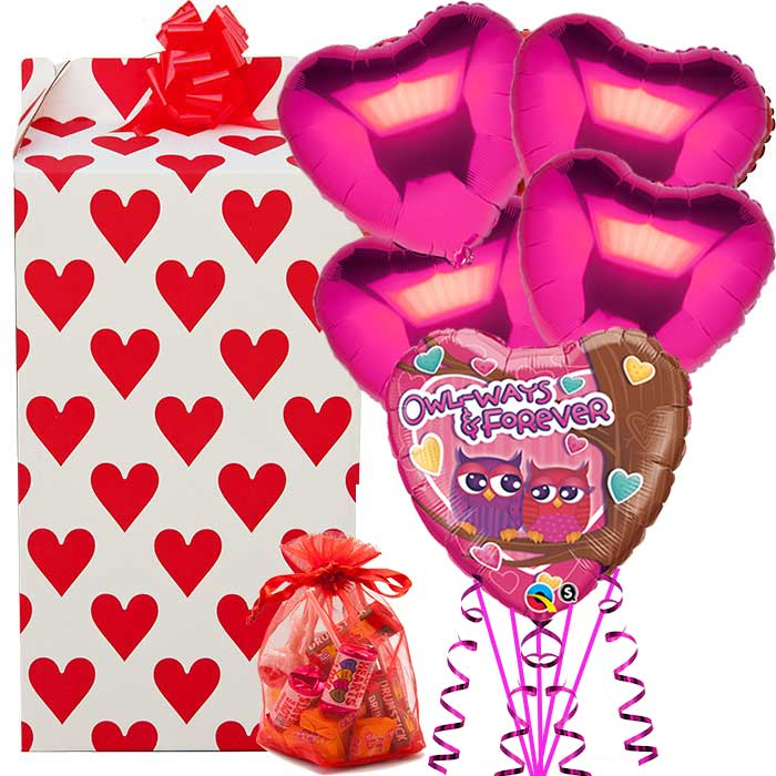 Olw-ways and Forever 5 Balloons and Organza Sweetie Bag