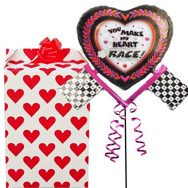 You Make My Heart Race Supershape Balloon