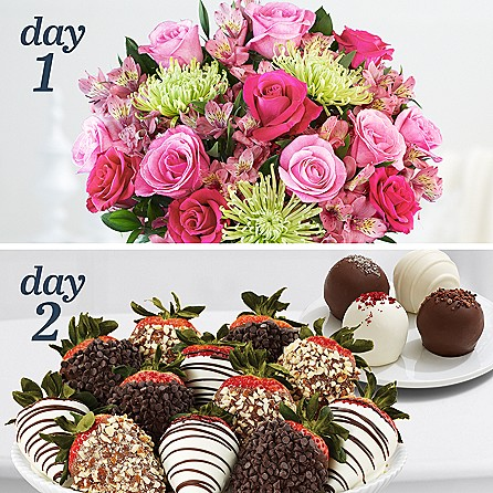 Deluxe All the Frills with 12 Fancy Strawberries & 4 Cake Truffles