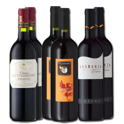 6er wine pack European red wine classic