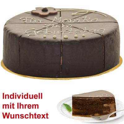 Wonderful dessert Sachertorte, inscribable