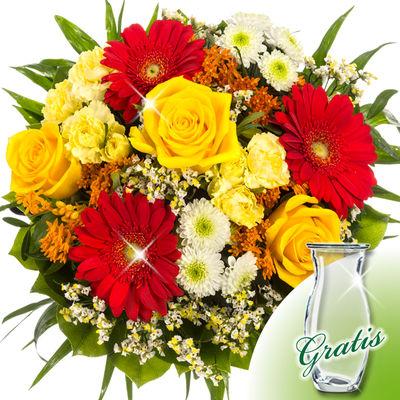 Bouquet rondo with vase