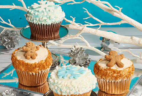 CRUMBS Signature Wintertime Cupcakes